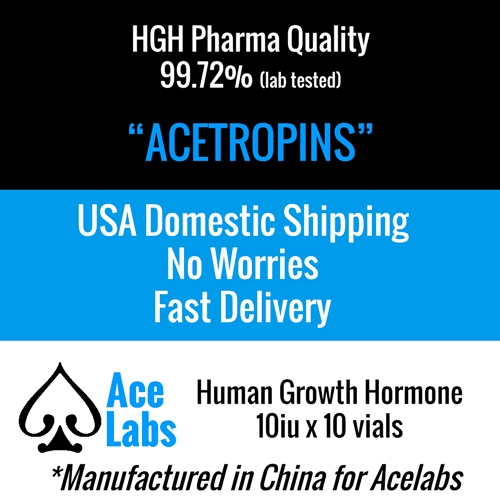 HGH -Acetropin- Pharma Quality 99.72 Purity - Domestic Shipping 10iu x 10 Vials