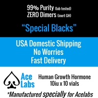 HGH - Special Blacks - GMP 98.5% Purity 13iu