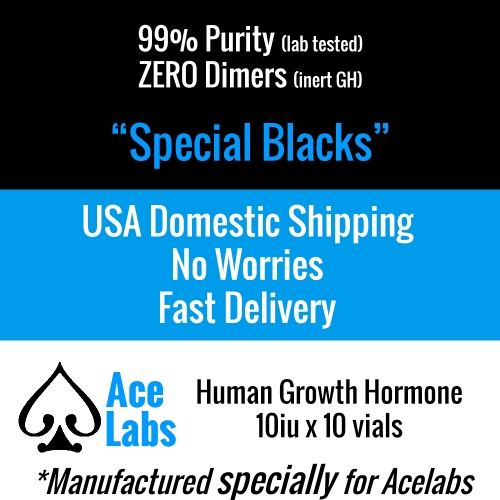 HGH - Special Blacks - GMP 98.5% Purity 13iu
