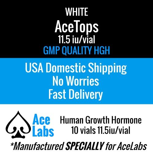 HGH White AceTops GMP 11.5iu 10 Vials Domestic Shipping