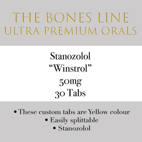 Stanozolol (Winstrol) The Bones Line 50mg 30 Tabs