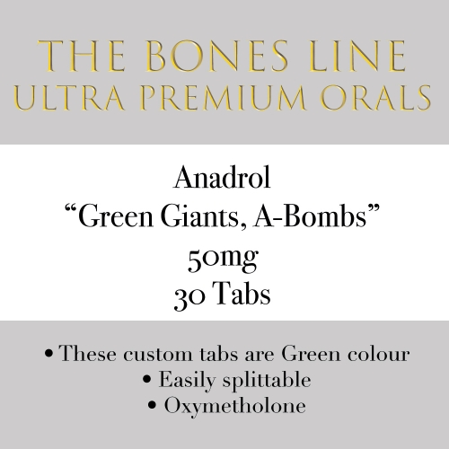 Anadrol The Bones Line 50mg 30 Tabs