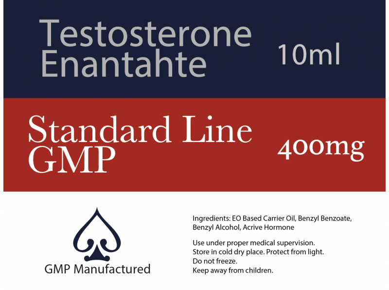 Testosterone Enanthate 400mg GMP Standard Line 10ml